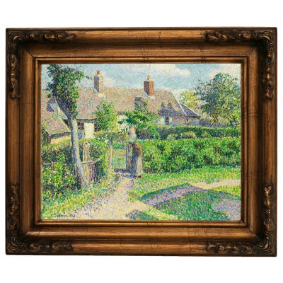 'Peasants Houses, Eragny 1887' by Camille Pissarro Framed Graphic Art Print on Canvas Size: 15.5