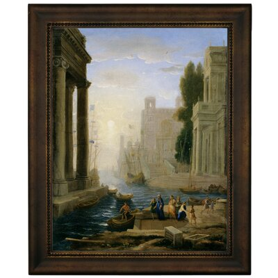 'Embarkation of St Paula' Framed Graphic Art Print on Canvas Size: 16.75