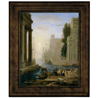'Embarkation of St Paula' Framed Graphic Art Print on Canvas Size: 12.75