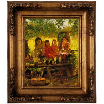 'The Cider Mill 1880' Framed Graphic Art Print on Canvas Size: 14.5