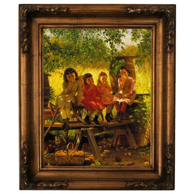'The Cider Mill 1880' Framed Graphic Art Print on Canvas Size: 19.5