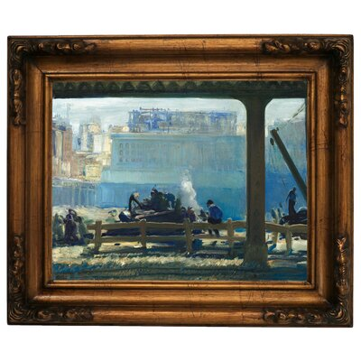 'Blue Morning 1909' Framed Graphic Art Print on Canvas Size: 15.5