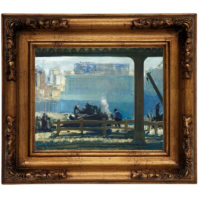 'Blue Morning 1909' Framed Graphic Art Print on Canvas Size: 12.5
