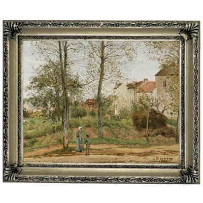 'Houses at Bougival Autumn 1870' by Camille Pissarro Framed Graphic Art Print on Canvas Size: 11