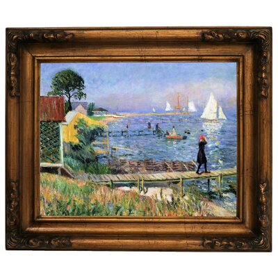 'Bathers at Bellport 1912' Framed Graphic Art Print on Canvas Size: 15.5