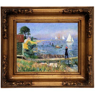 'Bathers at Bellport 1912' Framed Graphic Art Print on Canvas Size: 12.5