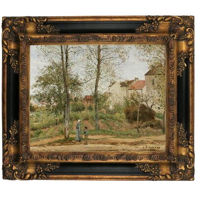 'Houses at Bougival Autumn 1870' by Camille Pissarro Framed Graphic Art Print on Canvas Size: 13.25