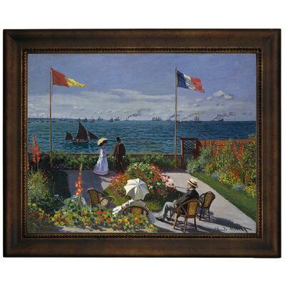 'Garden at Sainte Adresse' by Claude Monet Framed Graphic Art Print on Canvas Size: 13.75