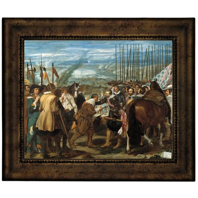 'The Surrender of Breda - The Lances' Framed Graphic Art Print on Canvas Size: 10.75