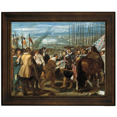 'The Surrender of Breda - The Lances' Framed Graphic Art Print on Canvas Size: 13.75