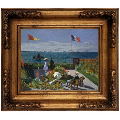'Garden at Sainte Adresse' by Claude Monet Framed Graphic Art Print on Canvas Size: 12.5