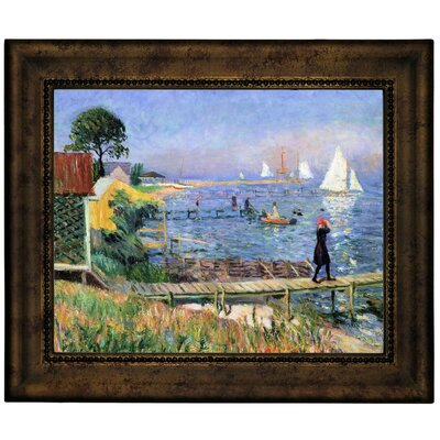 'Bathers at Bellport 1912' Framed Graphic Art Print on Canvas Size: 10.75