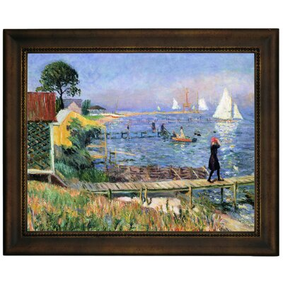 'Bathers at Bellport 1912' Framed Graphic Art Print on Canvas Size: 13.75