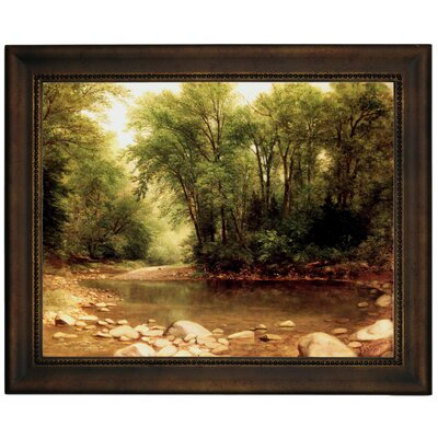 'Landscape 1867' Framed Graphic Art Print on Canvas Format: Bronze Frame, Size: 10.75