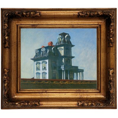 'The House' by Edward Hopper Framed Graphic Art Print on Canvas Size: 12.5