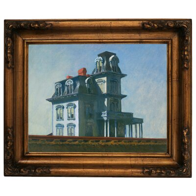 'The House' by Edward Hopper Framed Graphic Art Print on Canvas Size: 15.5