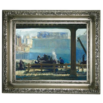 'Blue Morning 1909' Framed Graphic Art Print on Canvas Size: 11