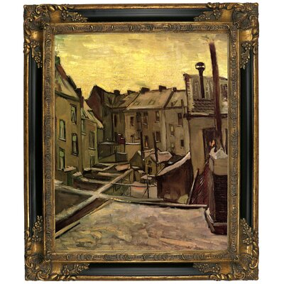 'Backyards of Old Houses in Antwerp in the Snow' by Vincent van Gogh Graphic Art Print on Canvas Size: 25.25