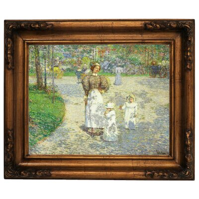 'Spring in Central Park 1908' Framed Graphic Art Print on Canvas Size: 15.5