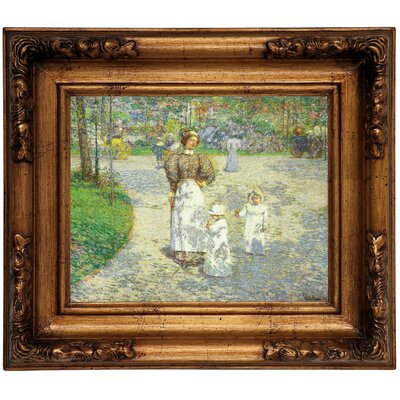 'Spring in Central Park 1908' Framed Graphic Art Print on Canvas Size: 12.5