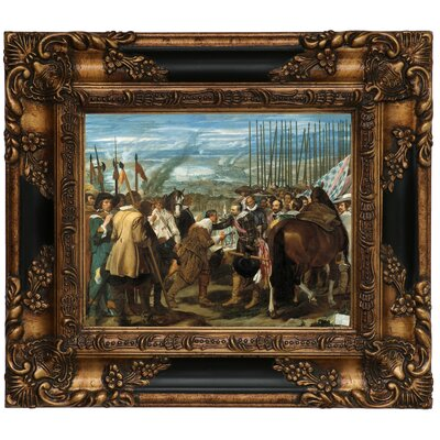 'The Surrender of Breda - The Lances' Framed Graphic Art Print on Canvas Size: 13.25