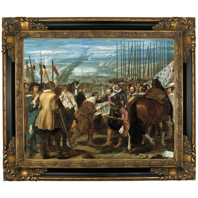 'The Surrender of Breda - The Lances' Framed Graphic Art Print on Canvas Size: 21.25
