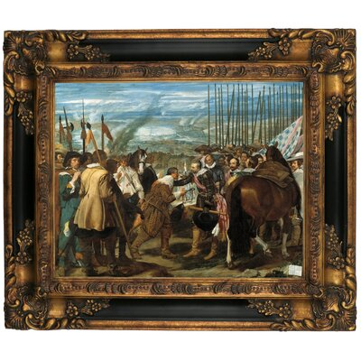 'The Surrender of Breda - The Lances' Framed Graphic Art Print on Canvas Size: 16.25