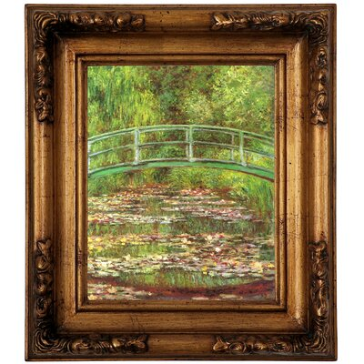 'Bridge Over Sea Rose Pond' by Claude Monet Graphic Art Print on Canvas Size: 14.5