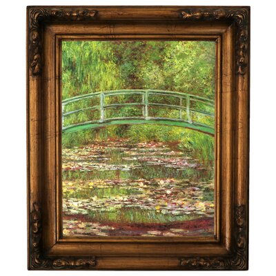 'Bridge Over Sea Rose Pond' by Claude Monet Graphic Art Print on Canvas Size: 19.5