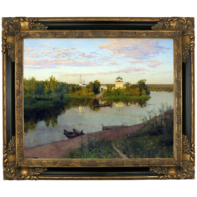 'The Evening Bells Ringing 1892' Framed Graphic Art Print on Canvas Size: 21.25