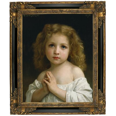 'Little Girl 1878' Framed Graphic Art Print on Canvas Size: 12.75