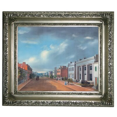 'Cincinnati Fourth Street East From Vine 1835' Framed Graphic Art Print on Canvas Size: 11