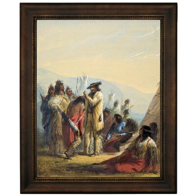 'Presents to Indians 1858' Graphic Art Print on Canvas Size: 16.75