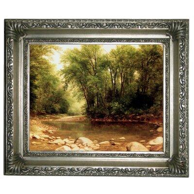 'Landscape 1867' Framed Graphic Art Print on Canvas Format: Silver Frame, Size: 11
