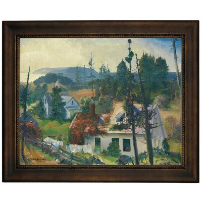 'The Red Vine, Matinicus Island, Maine 1916' Framed Graphic Art Print on Canvas Size: 10.75