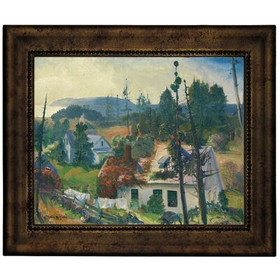'The Red Vine, Matinicus Island, Maine 1916' Framed Graphic Art Print on Canvas Size: 13.75