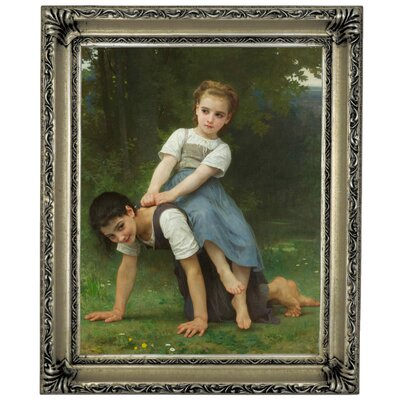 'The Horseback Ride 1884' Graphic Art Print on Canvas Size: 13