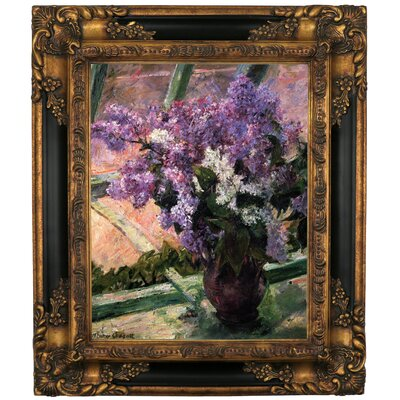 'Lilacs in a Window 1880' by Mary Cassatt Framed Graphic Art Print on Canvas Size: 12.75