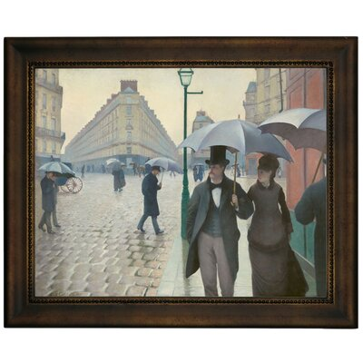 'Paris Street in Rainy Weather 1877' Framed Graphic Art Print on Canvas Size: 13.75