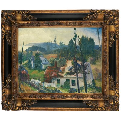 'The Red Vine, Matinicus Island, Maine 1916' Framed Graphic Art Print on Canvas Size: 16.25