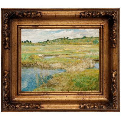 'The Concord Meadow' Framed Graphic Art Print on Canvas Size: 12.5