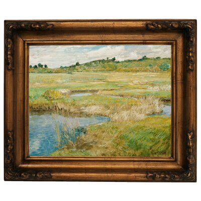 'The Concord Meadow' Framed Graphic Art Print on Canvas Size: 15.5