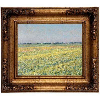'The Plain of Gennevilliers Yellow Fields 1884' Framed Graphic Art Print on Canvas Size: 15.5