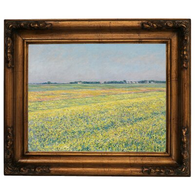 'The Plain of Gennevilliers Yellow Fields 1884' Framed Graphic Art Print on Canvas Size: 12.5