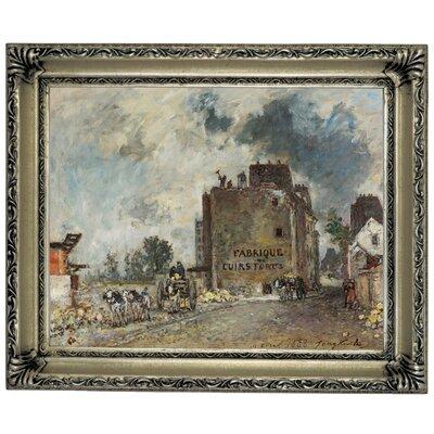 'Demolition Work in Rue Des Franc-Bourgeois St. Marcel 1868' Framed Graphic Art Print on Canvas Size: 14