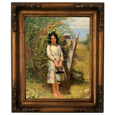 'Blackberry Picking 1875' Framed Graphic Art Print on Canvas Size: 19.5