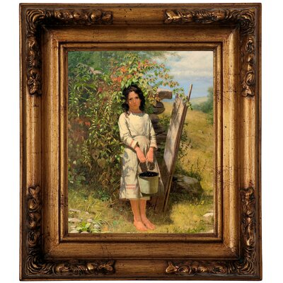 'Blackberry Picking 1875' Framed Graphic Art Print on Canvas Size: 14.5