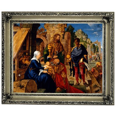 'The Adoration of the Magi 1504' Framed Graphic Art Print on Canvas Size: 11