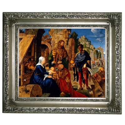 'The Adoration of the Magi 1504' Framed Graphic Art Print on Canvas Size: 14