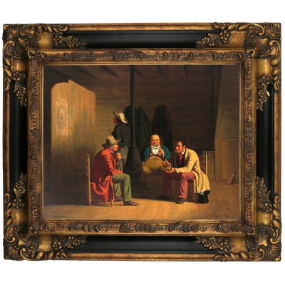 'Country Politician 1849' Framed Graphic Art Print on Canvas Size: 16.25